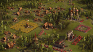 Русская деревня (скриншот из Казаки 3)